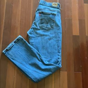 Levi's 505 High Rise Straight Leg Jeans Size 8